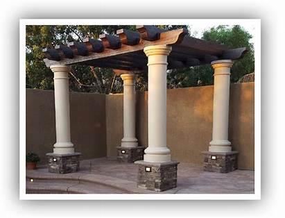 Pergolas Columns Round Designs Base