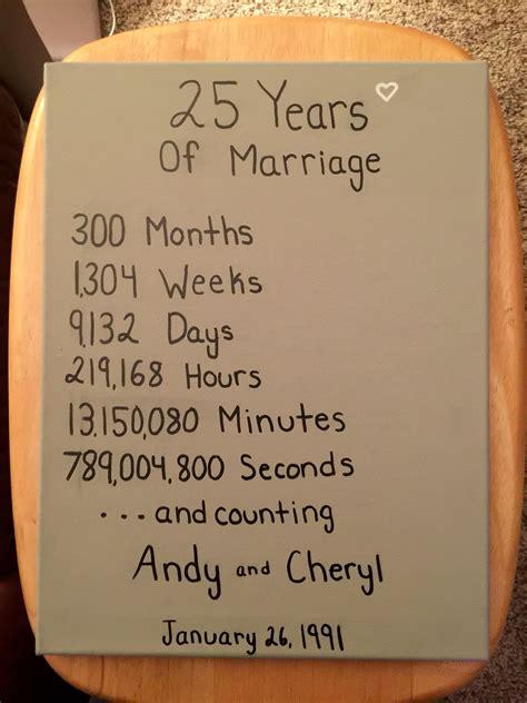 anniversary present   parents years