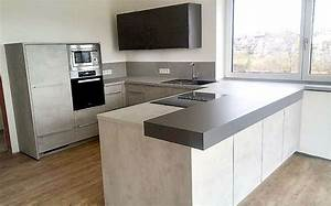 Küche In Betonoptik : stylische betonoptic schiefergrau mega k chenwelten ~ Michelbontemps.com Haus und Dekorationen
