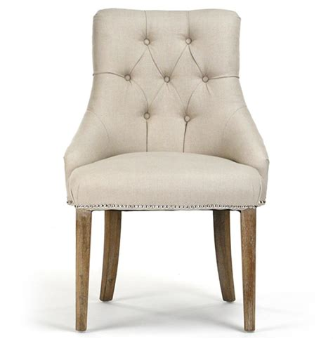 anneau linen tufted nail vanity dining chair