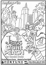 Peach Giant James Coloring Pages Colouring Dahl Roald Characters Panda Chapter Drawing Enormous Printable Crocodile Last Azcoloring Colors Template Tattoo sketch template