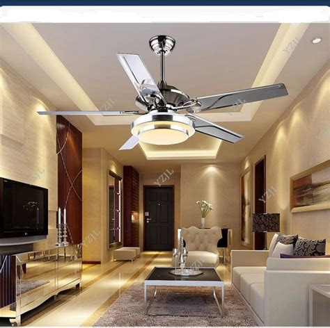 living room ceiling light fan aliexpress com buy stainless steel ceiling fan light