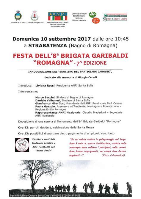 Eventi Bagno Di Romagna Festa 8 176 Brigata Garibaldi A Bagno Di Romagna 2017 Fc