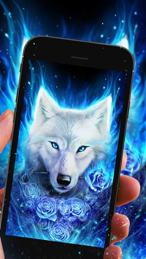 Anime Wolf Wallpaper Android by Cool Arctic Wolf Live Wallpaper For You Android Live