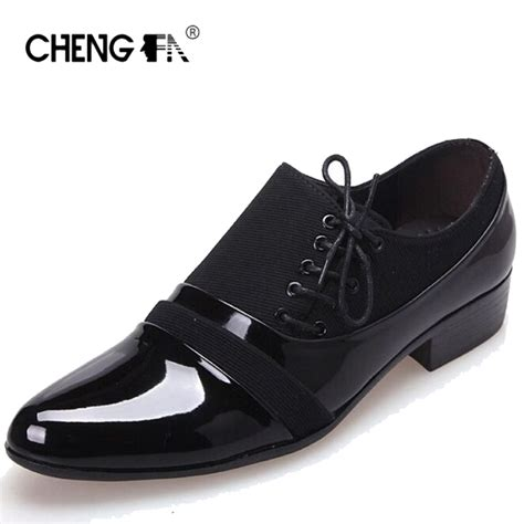 fashion men sneakers leather shoes  men dress