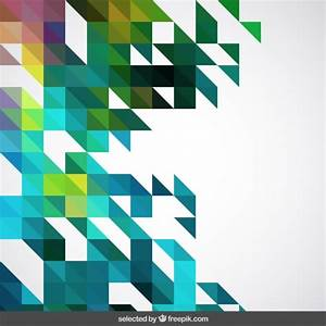 Abstract geometric background with triangles Vector | Free ...