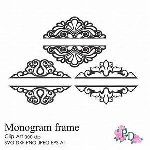 Split, Wedding, Monogram, Frames, 300, Dpi, Svg, Dxf, Ai, Eps, Png