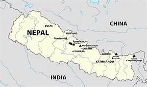 Detailed Map of Nepal   Himalayan Mountain Treks