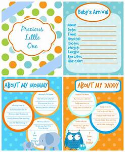 6 best images of baby memory book printable pages With free printable baby book templates