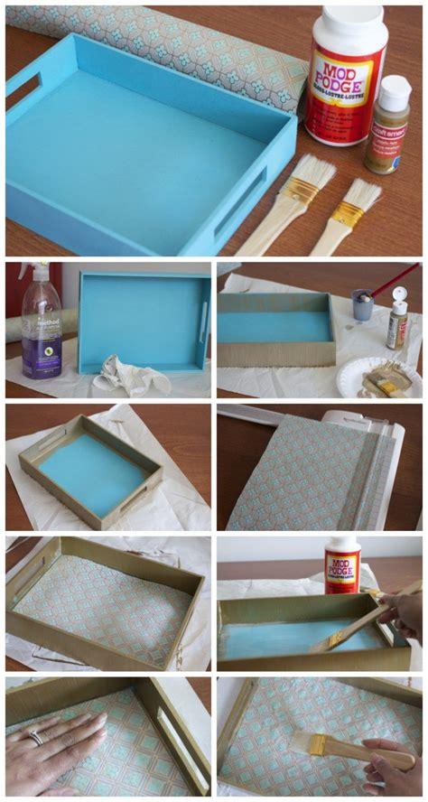 paper decoupage tray decoupage wood tray decor serving
