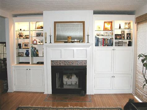 handmade custom fireplace cabinets  dennen design