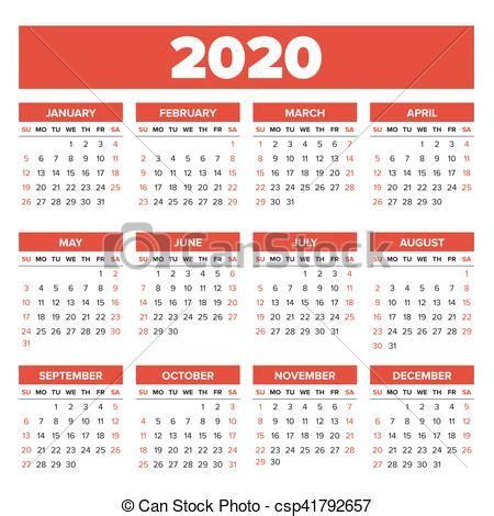 simple calendrier annee semaine simple debuts dimanche