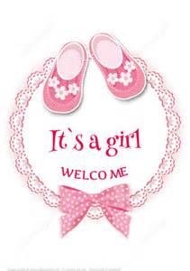 baby shower arrival card   girl  printable