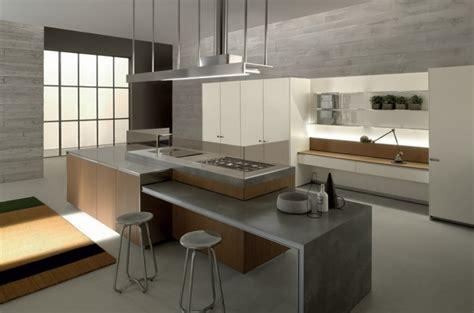 cuisine contemporaine avec ilot la cuisine contemporaine vue par ernestomeda et record cucine