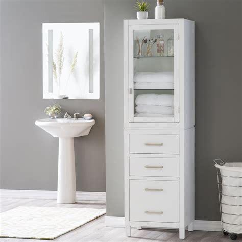 Bathroom Floor Cabinets White  Bathroom Cabinets Ideas