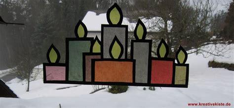 Fensterbilder Weihnachten Basteln Transparentpapier by Fensterbild Adventskerzen
