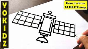 How To Draw Satellite Easy