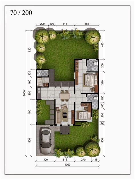 penjelasan denah rumah type  desain  ukuran