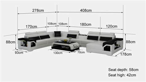 canap d angle dimension canapé d 39 angle panoramique en cuir nimes xl dimensions