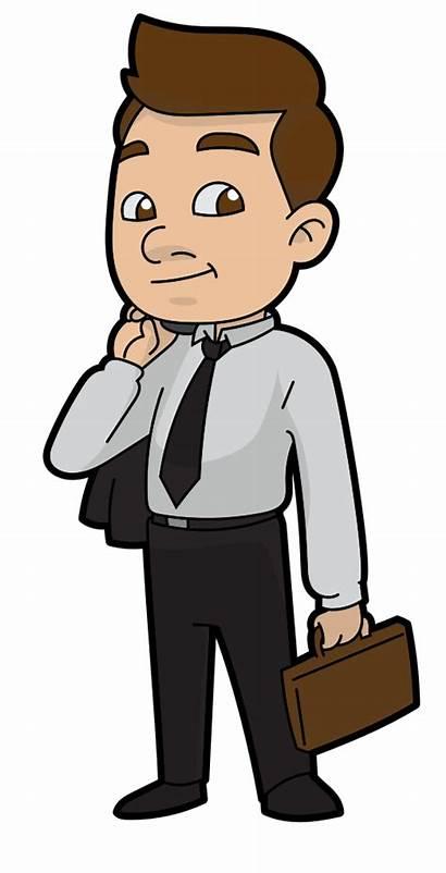 Cartoon Clipart Businessman Person Drawing Business Transparent