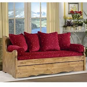 banquette lit gigogne With tapis chambre enfant avec canapé convertible bois montagne