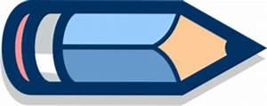 Blue Pencil Horizontal #2 Clip Art at Clker.com - vector ...