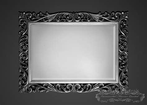 silver black ornamental mirrors  ornamental mirrors