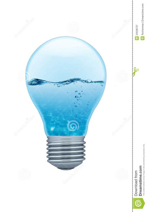 inside of a light bulb light bulb with water inside royalty free stock
