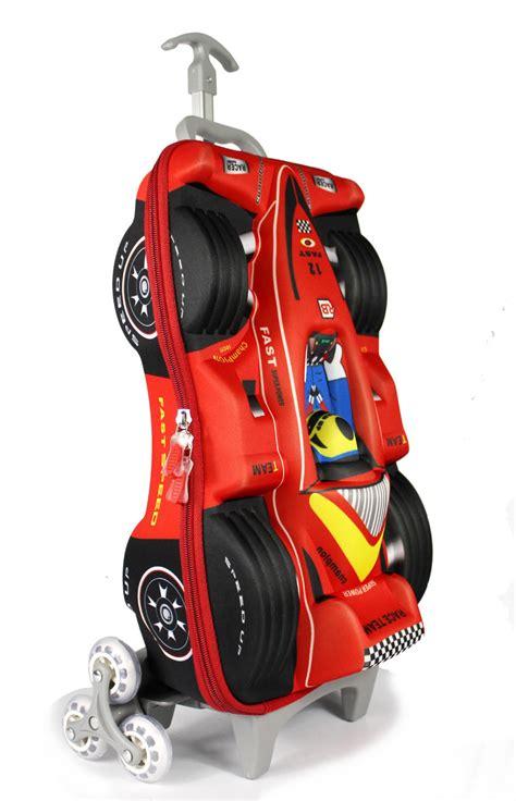 car eva  children trolley school bag  boy racing