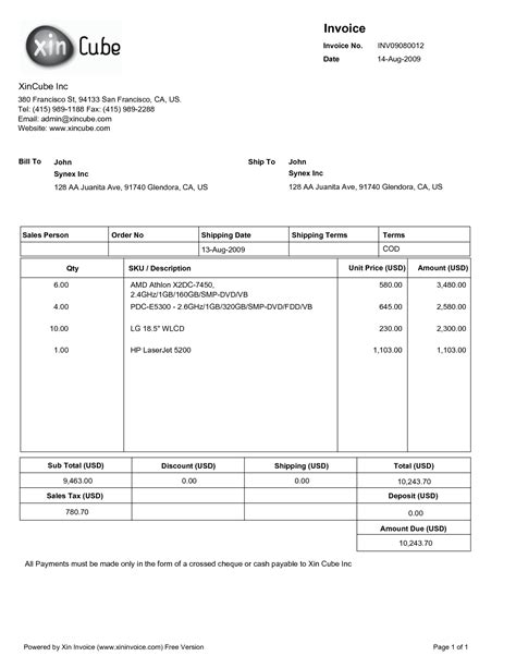 sample invoice  invoice template ideas
