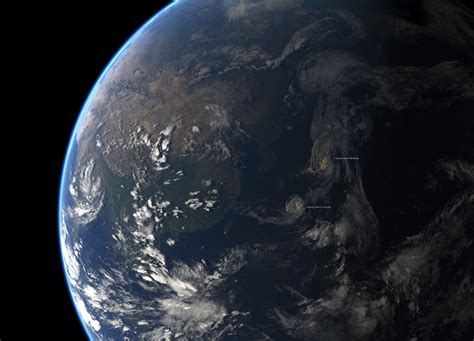 Tropical Storms Mindulle And Lionrock Seen From Space