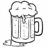 Beer Coloring Pages Table Spill Bottle Colouring Sheet Root Float Template Print Tocolor Button Using sketch template