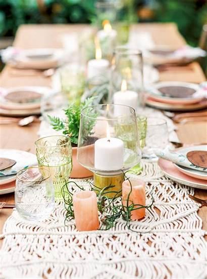 Bridal Shower Centerpieces Candles Bride Greenery Centerpiece
