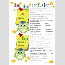 Thanthen Confusion Worksheet  Free Esl Printable Worksheets Made By Teachers