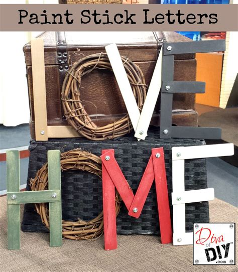 Super Simple Diy Sunday Paint Stick Letters  The Review Wire