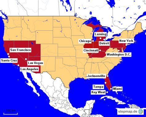 Usa Karte Städte