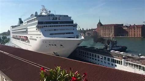 Cruise Ship Crash Caught On Camera Video
