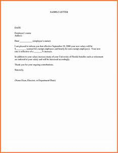 5 sample salary increase letter to employer salary slip With sample salary review letter template