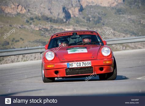 red porsche truck red porsche 911 classic sports car racing in the mallorca