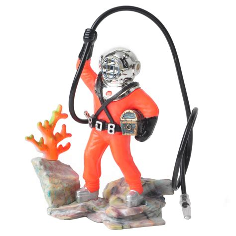 fish tank bubbler ornament 2 colors 10 cm bubbling diver aquarium ornament fish tank