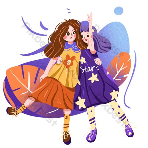 cute  sisters  childrens day png images psd