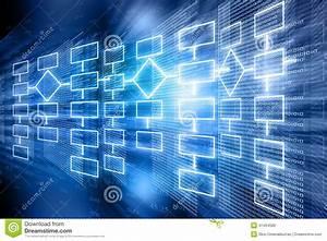 Flow, Chart, Background, Stock, Illustration, Illustration, Of