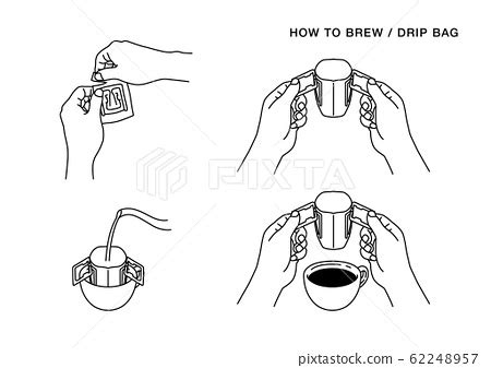 How do i brew coffee without a scale? How to brew drip bag coffee 01 (line) - Stock Illustration 62248957 - PIXTA