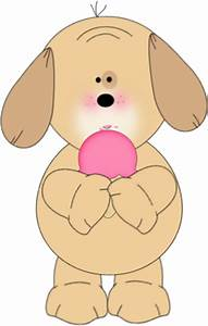Dog Eating Pink Ice Cream Cone Clip Art - Dog Eating Pink ...