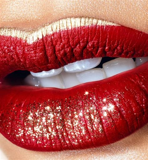 runway inspired bold glitter lips   newest beauty