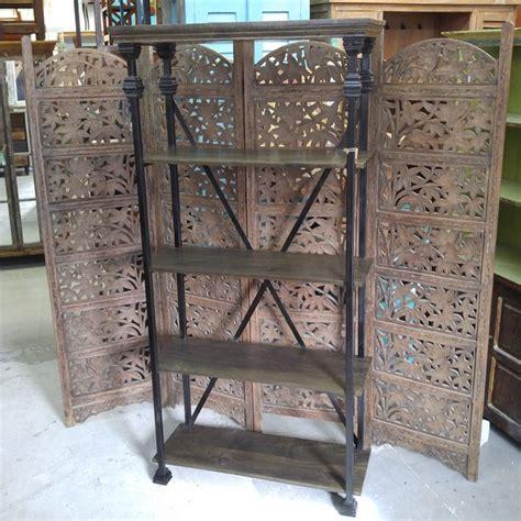 iron and wood bookcase iron and wood bookcase nadeau charlotte