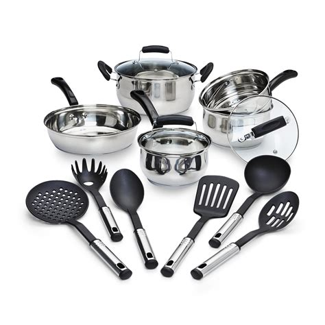 steel stainless cookware pots pans cooking essential piece nonstick shopping oven sears tools dutch