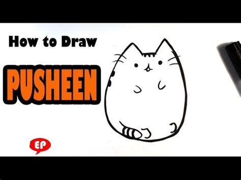 draw ice cream cone easy pusheen art