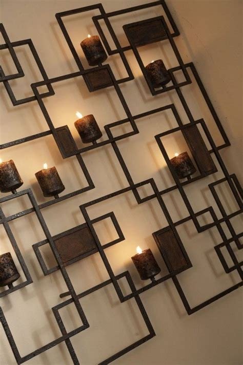 metal wall art candle holder foter