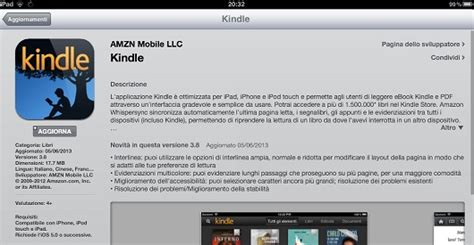 mini tablet new version of kindle app for ios v 3 8
